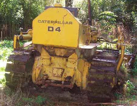 Caterillar D4-7U series bulldozer with Hyster winch info